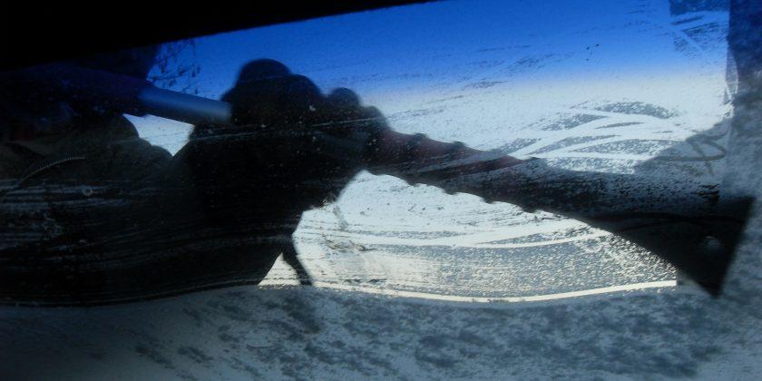 de-ice your windshield, thaw windshield