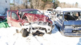 Accident caused by cell phone texting.