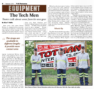 Totman's Towing Featured in Towing & Recovery Footnotes!