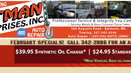 Totman's February 2016 Auto Repair Specials